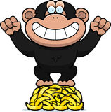 Cartoon Chimpanzee Bananas Stock Photos