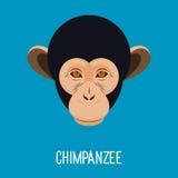 Cartoon chimpanzee monkey portrait Stock Photography