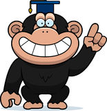Cartoon Chimpanzee Professor Royalty Free Stock Image