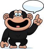 Cartoon Chimpanzee Talking Royalty Free Stock Photos