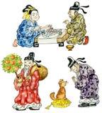 Cartoon Chinese. People icon set Stock Photo