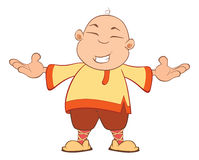 Cartoon of a Chinese Boy Royalty Free Stock Images