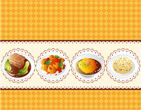 Cartoon Chinese food card Royalty Free Stock Photo