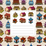 Cartoon Chinese house seamless pattern Royalty Free Stock Photo