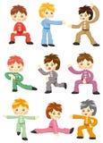 Cartoon Chinese Kung Fu Icon Stock Photos
