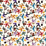 Cartoon chinese Kung fu seamless pattern Royalty Free Stock Images