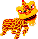 Cartoon Chinese lion dancing Stock Photo