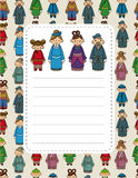 Cartoon chinese people card Royalty Free Stock Images