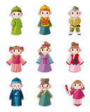 Cartoon Chinese People Icon Set Stock Images