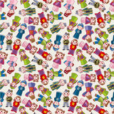 Cartoon Chinese people seamlese pattern Stock Photography
