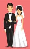 Cartoon chinese wedding couple Royalty Free Stock Images