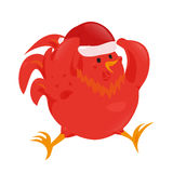 Cartoon chinese zodiac fire rooster. Royalty Free Stock Images