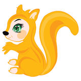 Cartoon of the chipmunk on white Stock Photo