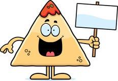 Cartoon Chips and Salsa Sign Royalty Free Stock Photos