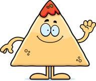 Cartoon Chips and Salsa Waving Royalty Free Stock Photos