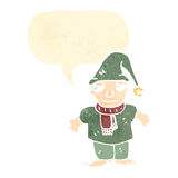 Cartoon chirstmas elf Royalty Free Stock Images