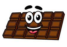 Cartoon chocolate Royalty Free Stock Photos
