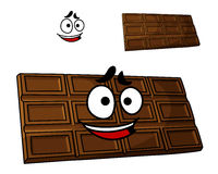 Cartoon chocolate dessert stock illustration