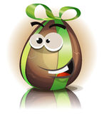 Cartoon Chocolate Easter Egg Character Stock Images