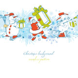 Cartoon Christmas background Royalty Free Stock Image