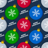Cartoon Christmas Ball Seamless Pattern Stock Photos