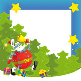 Cartoon christmas border - illustration for the children Royalty Free Stock Images