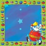 Cartoon christmas border - illustration for the children Royalty Free Stock Photos
