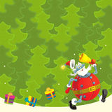 Cartoon christmas border - illustration for the children Stock Photography