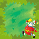 Cartoon christmas border - illustration for the children Stock Image