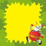 Cartoon christmas border - illustration for the children Stock Photos
