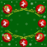 Cartoon Christmas card Royalty Free Stock Images
