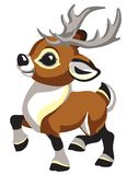 Cartoon little Cristmas deer side view royalty free illustration