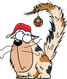 Cartoon Christmas Cat Stock Images