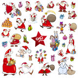 Cartoon christmas characters set Royalty Free Stock Images