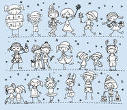 Cartoon Christmas children,vector Royalty Free Stock Photography