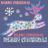 Cartoon christmas deer Royalty Free Stock Photo