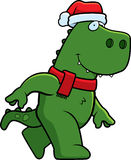 Cartoon Christmas Dinosaur Stock Photography