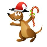 Cartoon Christmas Dog Stock Photos