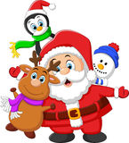 Cartoon christmas doll collections Stock Images