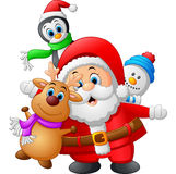 Cartoon christmas doll collections Royalty Free Stock Photo
