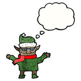 Cartoon christmas elf Royalty Free Stock Photography