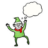 Cartoon christmas elf Royalty Free Stock Images