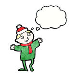 cartoon christmas elf Royalty Free Stock Photos