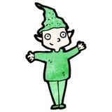 cartoon christmas elf Stock Images