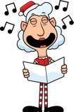 Cartoon Christmas Elf Caroling Royalty Free Stock Images