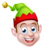 Cartoon Christmas Elf Face Stock Photography