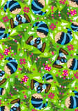 Cartoon Christmas Elf Pattern Royalty Free Stock Photography