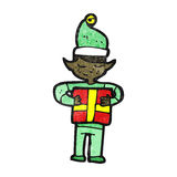 cartoon christmas elf Royalty Free Stock Photos