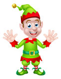 Cartoon Christmas Elf Waving Stock Photo