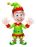 Cartoon Christmas Elf Waving Stock Photo